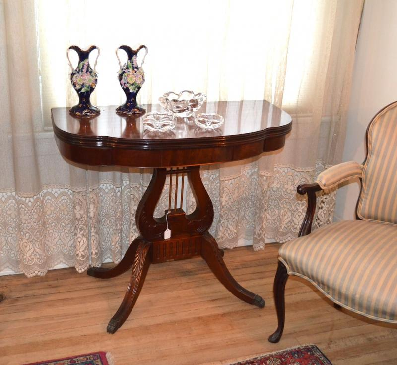 Antique Mahogany Gaming/Folding Table by Fine Arts Furn. Co - Grand Rapids