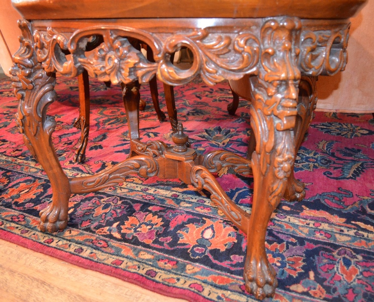 English Mahogany and Satinwood inlaid Console Table George II circa mid 18th century