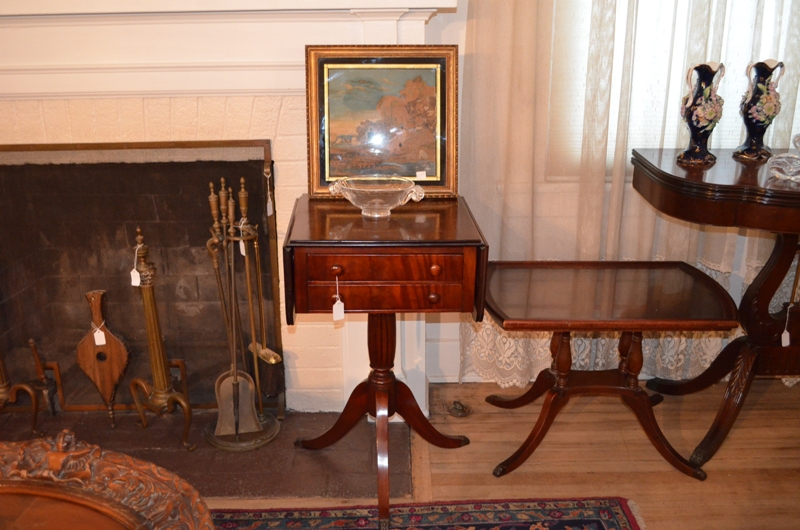 Antique Small Table and Side Tables with drowers