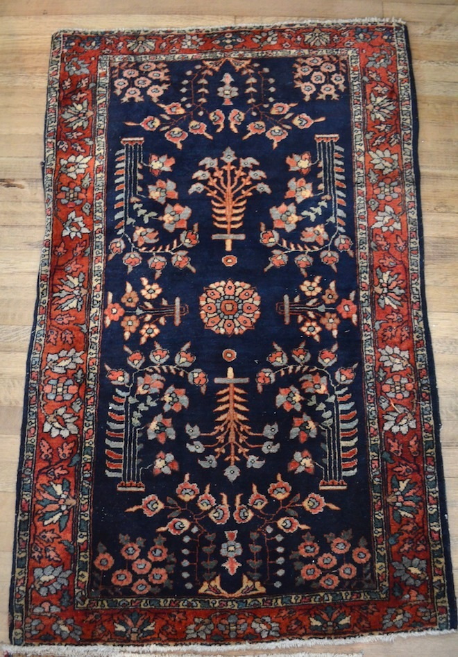 Sarouk Rugs (9.8x7.8; 2.9x2.1; 4.0x2.6 inch) and other rugs and runners