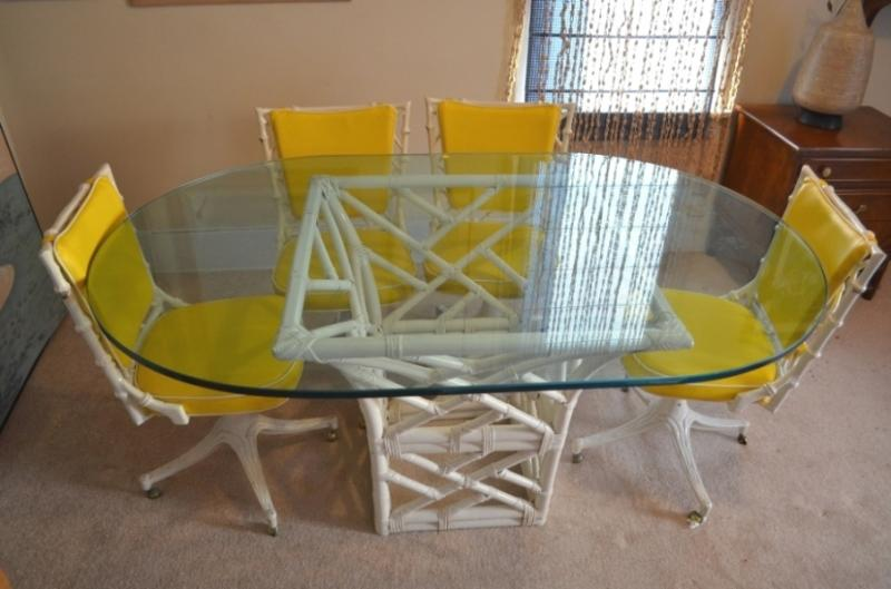 Modern Iron Base Table and Chairs