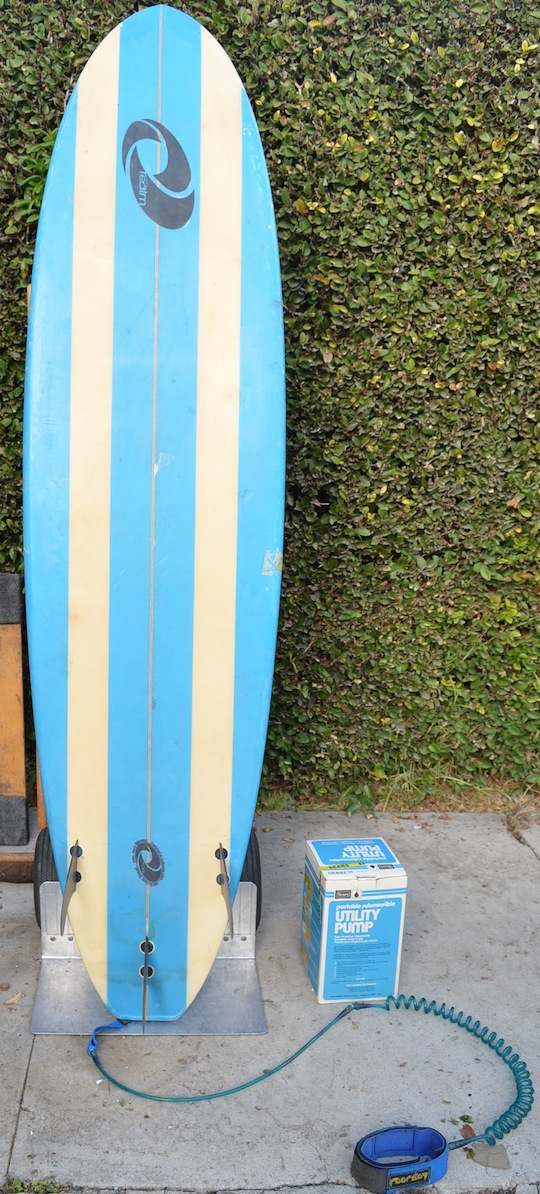 "Vintage Surfing board ""The Realm"" hand shaped and glassed – designed in California"