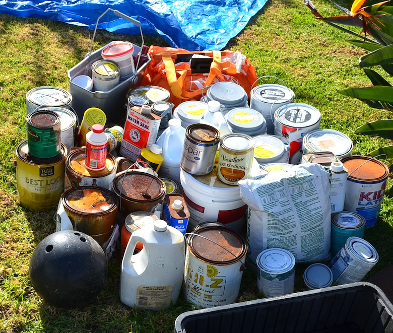 Paint Cans - mainly unused