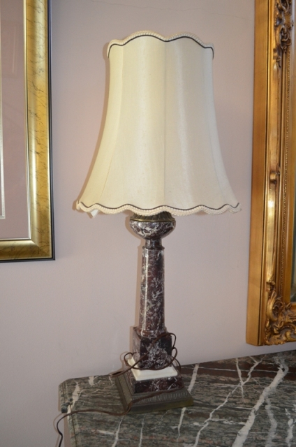 Vintage Marble Table Lamps