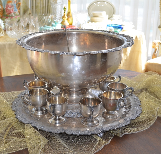 Antique Punch Bowl Set