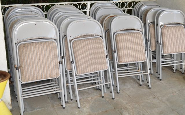 Party foldable chairs